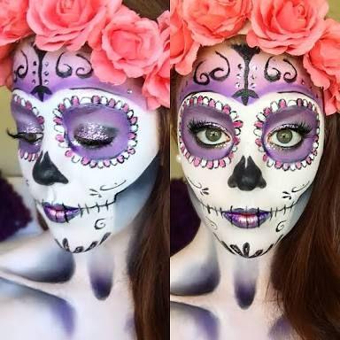 sugar skull makeup - Google Search