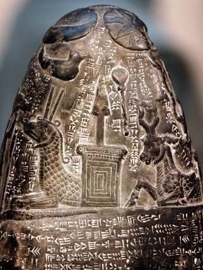 Ancient writings about the tree of life, vikings (picture is detail of a kudurru or boundary stone of Kassite Babylon)