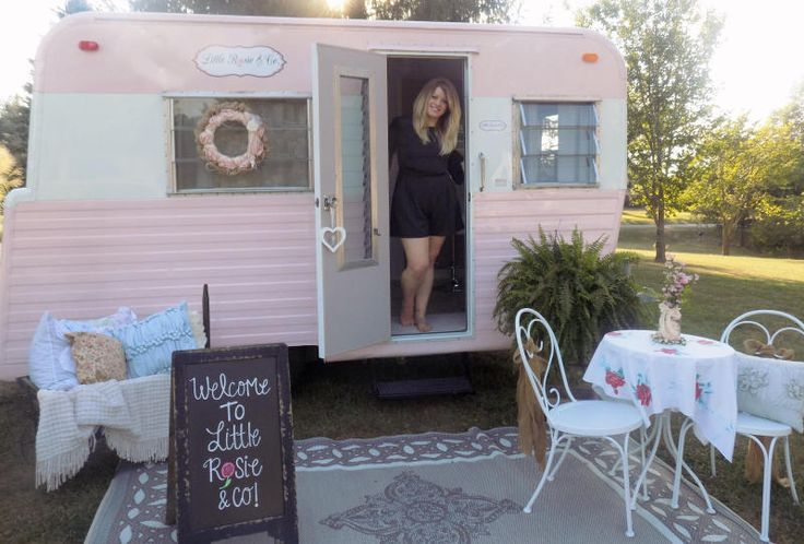 Local hairstylist Amanda Cocanougher bought an old trailer on Craigslist for $600 and turned it into a traveling beauty business for weddings and special events.