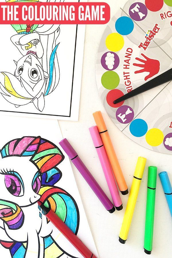 Fun Games for Kids: The Colouring Game. A super fun colouring (or drawing) game for kids that the whole family can play!