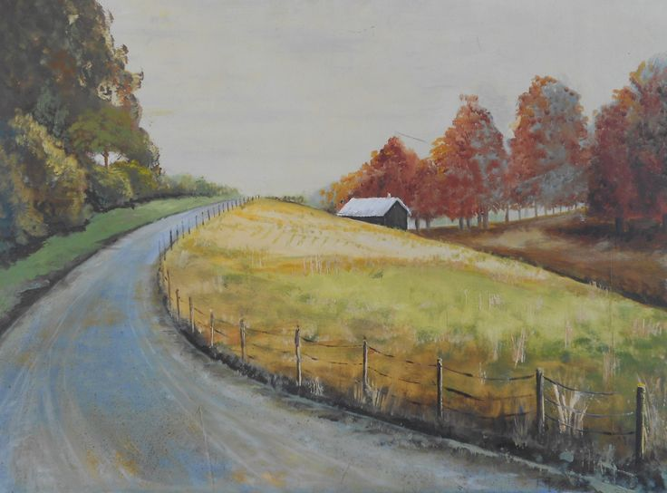 Autum  Fields. oil on Hardboard. Sold