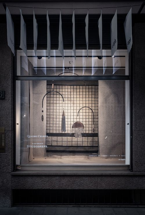 cc-tapis Showroom Window Display, Via Simpliciano 6, Milan by Studio Pepe