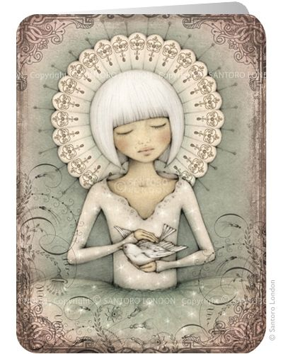 ©Leanne Ellis - The Messenger - Santoro's Eclectic Cards