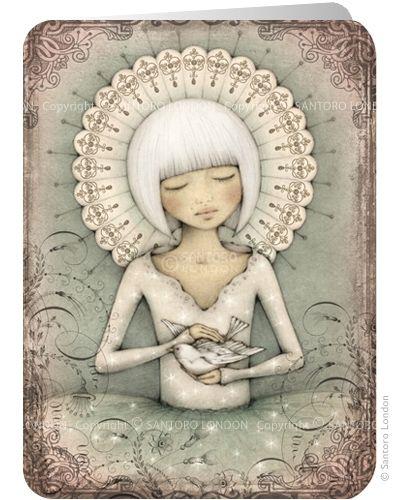 ©Leanne Ellis - The Messenger - Santoro's Eclectic Cards