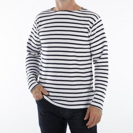 Marinière pour Homme ou femme - blanc rayé marine