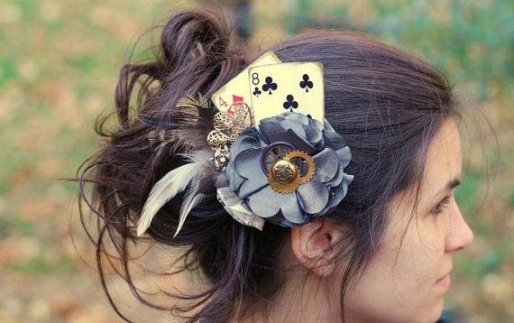 Steampunk Flower Fascinator/ Steampunk  Hair Clip/ by LilyMairi, $55.00 I love the unique design to this one!