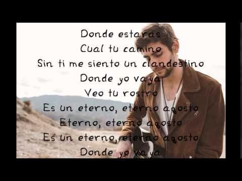 Alvaro Soler - Agosto - Lyrics ( Letra ) - YouTube