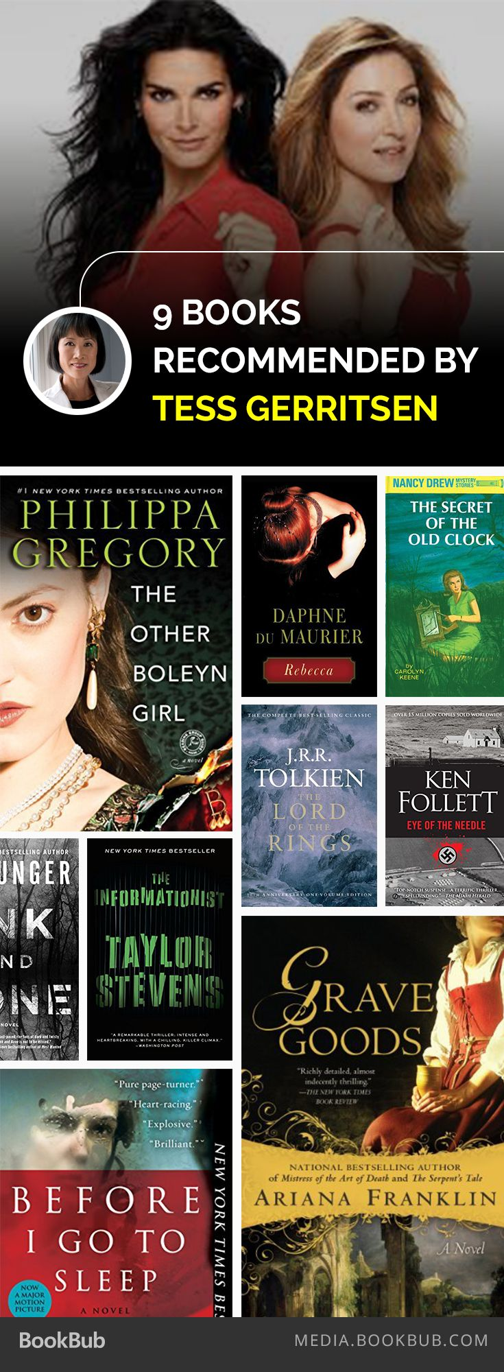 9 books recommended by Rizzoli & Isles author Tess Gerritsen.