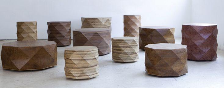 tesler-mendelovitch: diamond woods tables for talents design