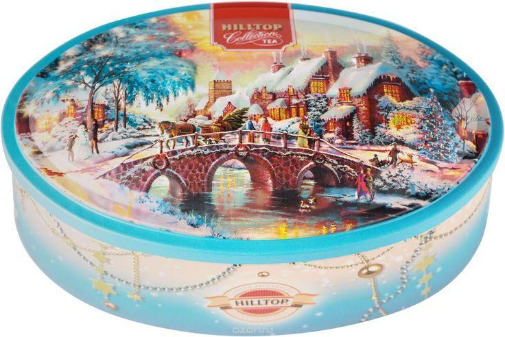 """Купить Hilltop """"Новогодний пейзаж"""" Волшебная луна ароматизированный листовой чай в шкатулке, 100 г в интернет-магазине OZON.ru"""
