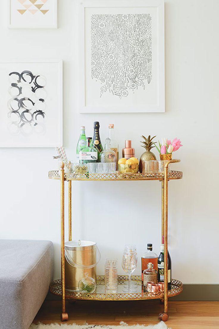 Unique Side Table Bar Cart