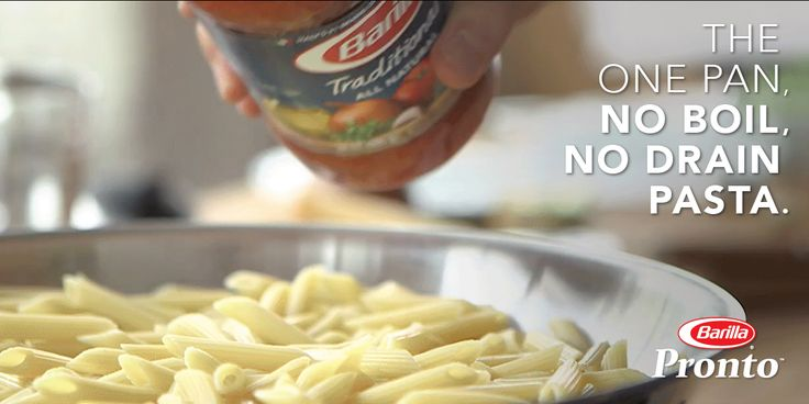 Step 4: Pasta al dente anyone? Add your favorite Barilla sauces, serve and enjoy! With new Pronto™ pasta, you can have a dinner cooked and served in a matter of minutes.  Discover more one-pan pasta recipes from Barilla today!