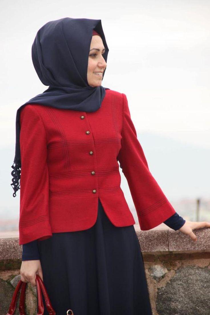 Sefamerve, Pınar Şems Ceket 4003-01 Kırmızı