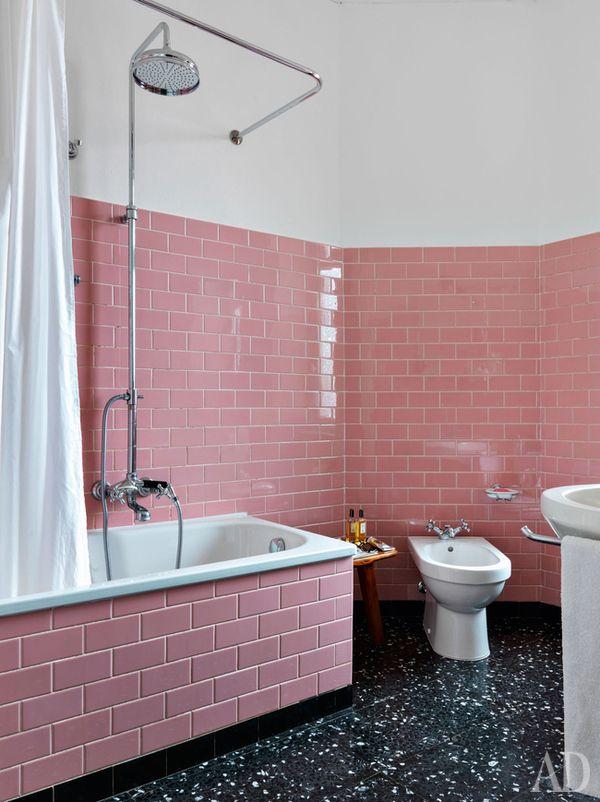 311 best pink bathrooms images on pinterest bathroom. Black Bedroom Furniture Sets. Home Design Ideas