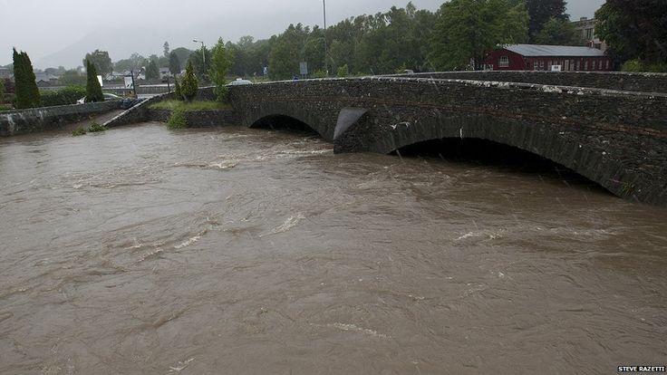 River Greta in Keswick - flooding
