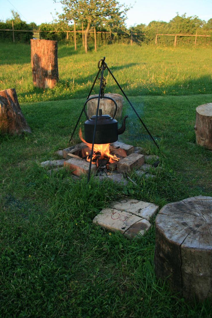 www.gypsycaravanbreaks.co.uk  You can cook on the campfire or on a gas cooker lurking in a a convenient caravan