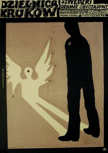 Polish poster:  Kvarteret Korpen, film suédois de Bo Widerberg,   Affiche rare, 1966  Franciszek Starowieyski