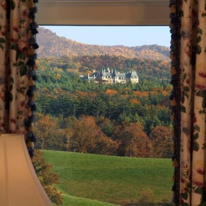 Talk about a room with a view! View of #Biltmore House from The Inn on Biltmore Estate.