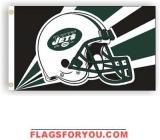 NEW YORK JETS HELMET DESIGN 3X5 FLAG - 1 left