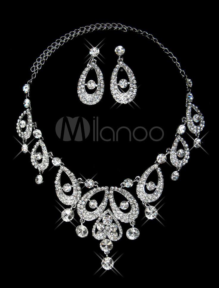 #Milanoo.com Ltd          #Wedding Jewelry Sets     #Chic #Silver #Rhinestone #Waterdrop #Wedding #Jewelry                        Chic Silver Rhinestone Waterdrop Wedding Jewelry Set                                                    http://www.seapai.com/product.aspx?PID=5692402