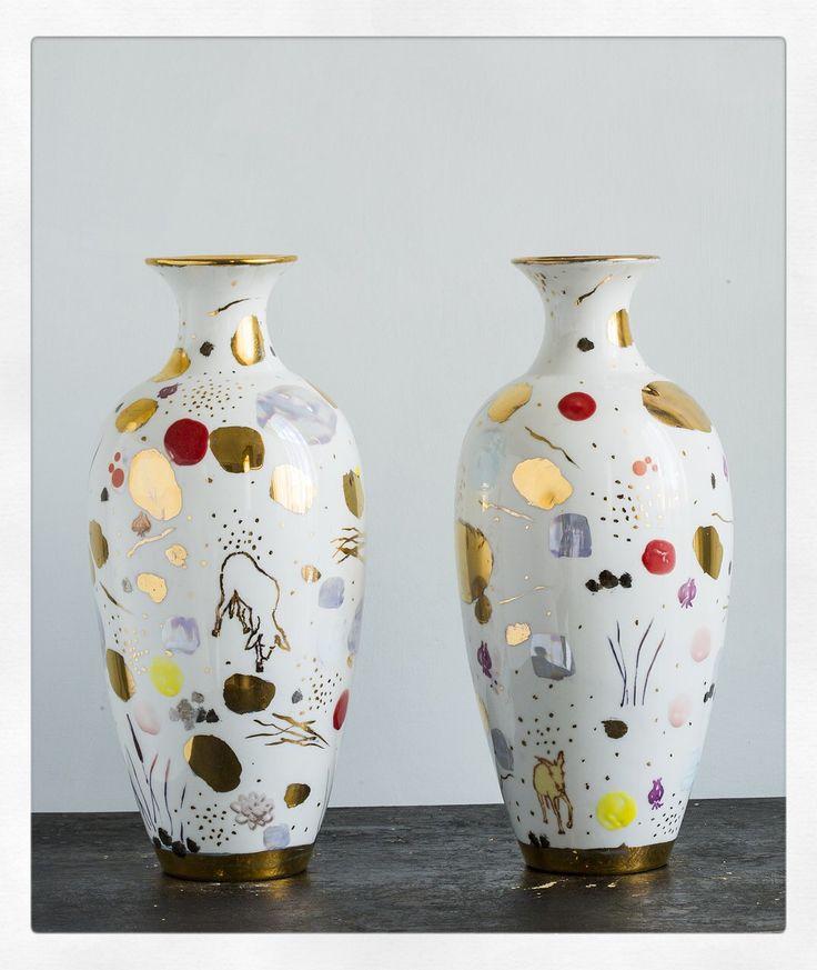 Porcelain vases  Coralla Maiuri design