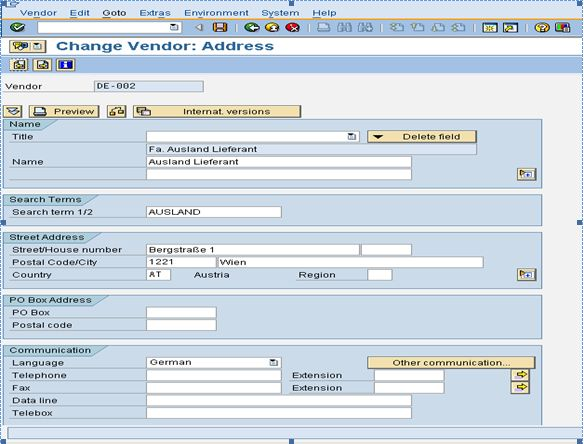 How to activate contact person in sap accounts payble sap fi