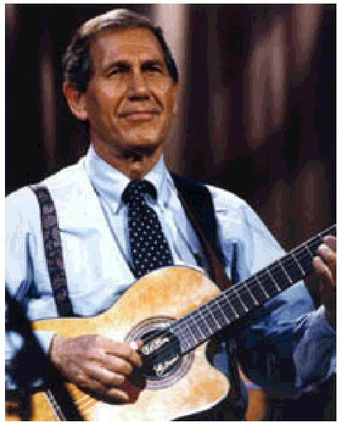 Chet Atkins. outstanding guitarist. one of the architects of the Nashville sound. Studio musician, soloist, record producer - he had profound effect not only on country music but pop
