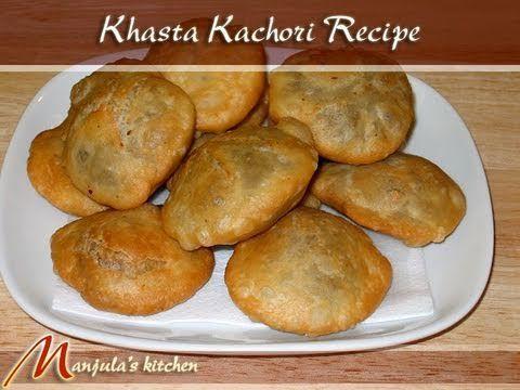 Khasta kachori - yummy with either yellow mung dal or chana dal filling covered with chick peas, fresh yogurt, mint chutney and tamarind chutney!