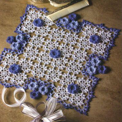 Irish Crochet Doilies Patterns Flower Doily Book Floral Beauty Heart Rose Square | eBay