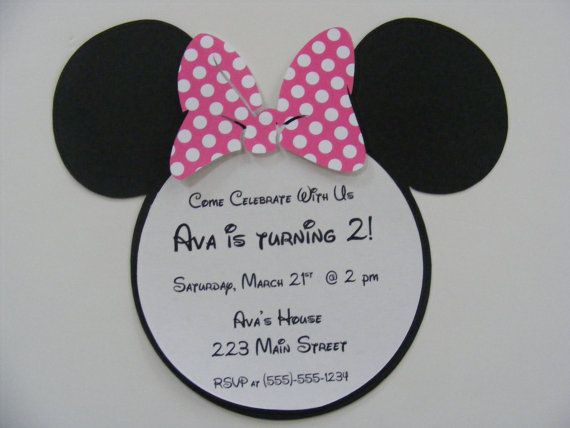 20 Minnie Mouse Birthday Party Invitations by whimsycreationsbyann, $29.99