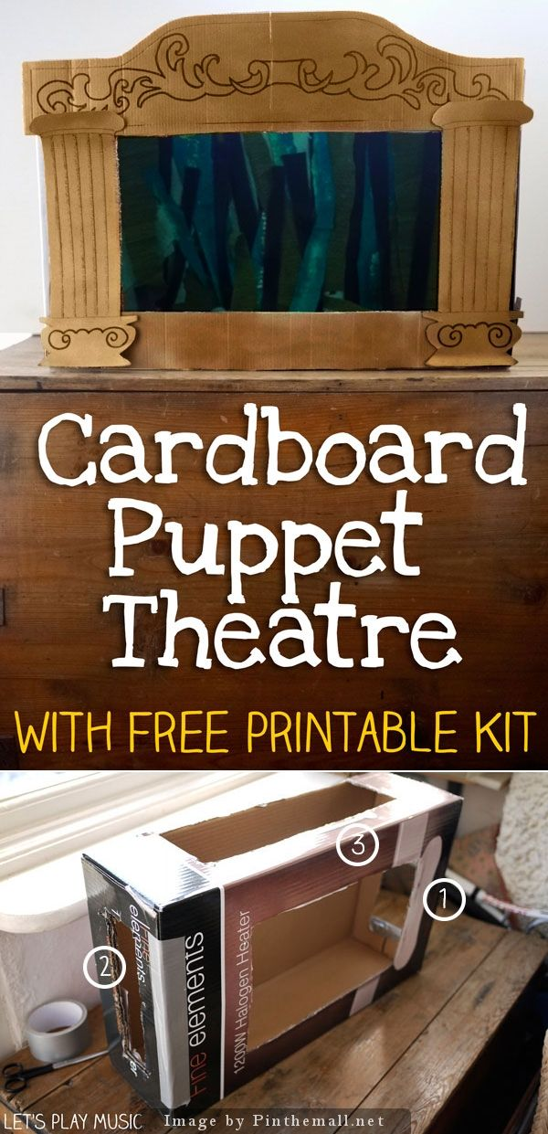 How to Make a Homemade Puppet Theatre - Cardboard is a fantastic resource for crafting with kids; easily available, free and it offers endless possibilities! This homemade puppet theatre tutorial is the perfect activity for a rainy afternoon, or it could be a surprise project for a wonderful present complete with a different sets of fairy tale characters.