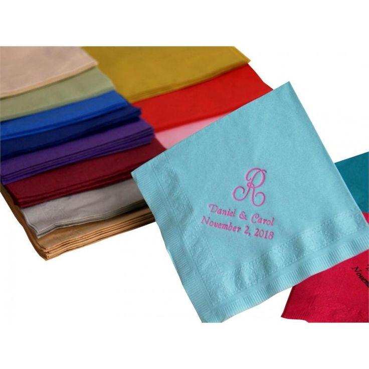 personalized beverage initial napkins bulk 100 napkins