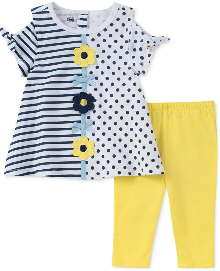 44378d783 2-Pc. Cold Shoulder Tunic & Leggings Set, Toddler Girls #sweet#features# print