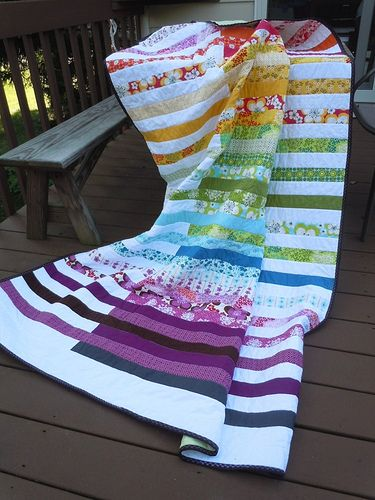 Beautiful strip quilt!!