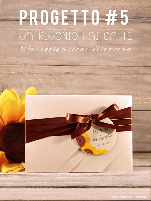 Vany Design: [MATRIMONIO FAI DA TE] Partecipazione Eleonora - progetto #5