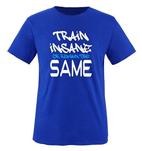 Comedy Shirts - TRAIN INSANE... - children T-Shirt camiseta - realazul / blanco-azul tamaño 122-128 #camiseta #realidadaumentada #ideas #regalo