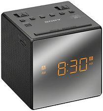 Sony ICF-C1T Desktop Despertador AM FM RADIO NEGRO configurar automático