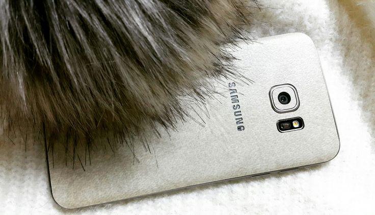 Folii Carbon 3M Leather Bej Samsung Galaxy S7 edge