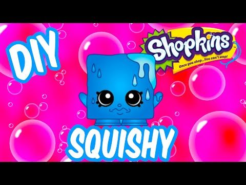 Shopkins DIY SQUISHY Toy Craft | How To Make Season 1 COOL CUBE | Inspired by Cookie Swirl C - YouTube