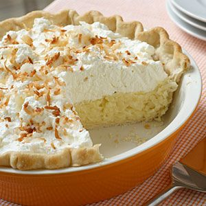 When it comes to pie recipes, this classic coconut pie recipe takes the blue ribbon.