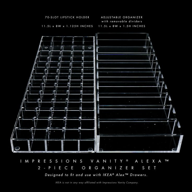 Impressions Vanity Alexa Collection Two-Piece Acrylic Organizer Set (Fits IKEA® Alex Drawers™)