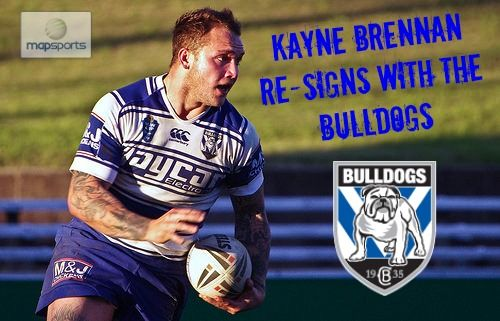 Canterbury Bankstown Bulldogs winger, Kayne Brennan has agreed to re-sign with the NRL Grand Final outfit until the end of 2015. Originally a south coast junior, Brennan first signed with the club as a 15 yr old and played in both their Matthews Cup and SG Ball teams. Travel burnout led to Brennan signing with the NRL Dragons. After 2 years in the Toyota Cup where he set the benchmark in many key stats Brennan was selected in the 2013 Junior Kangaroos Squad and returned to the Bulldogs.