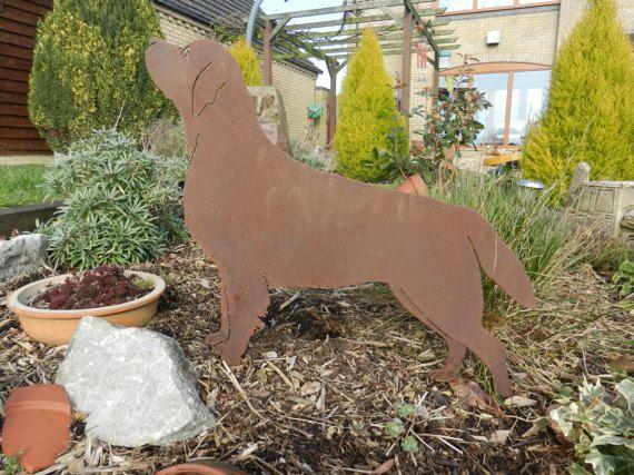 Rusty Labrador / Rusty Metal Garden Art / Labrador gift / Dog