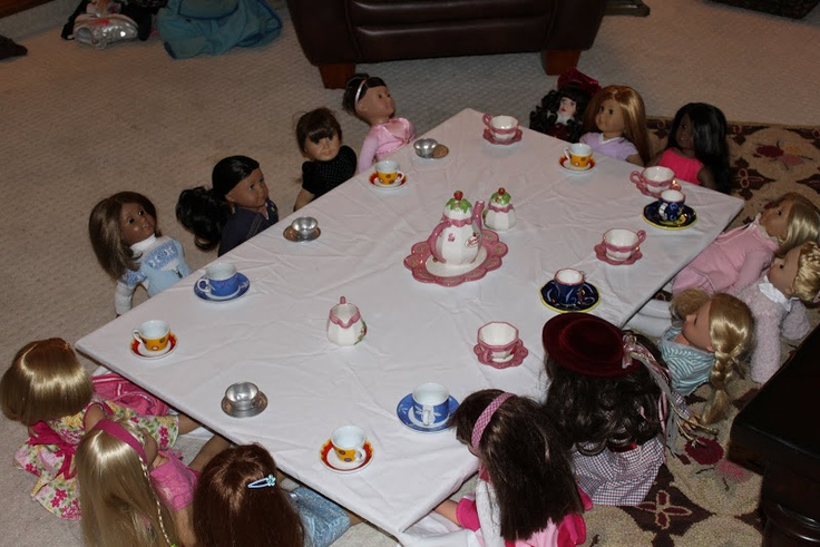 Amazing ideas, and very simple. American Girl Doll Tea Party