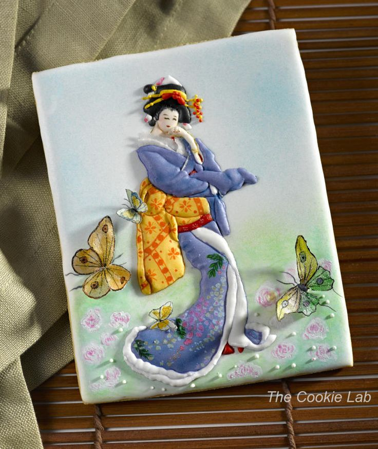 "Japanese Gardens - Japanese Lady for ""Gardens of the Word"" - Cake by The Cookie…"
