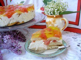 W Mojej Kuchni Lubię.. : sernik na zimno z orzeźwiającym arbuzem na biszkop...
