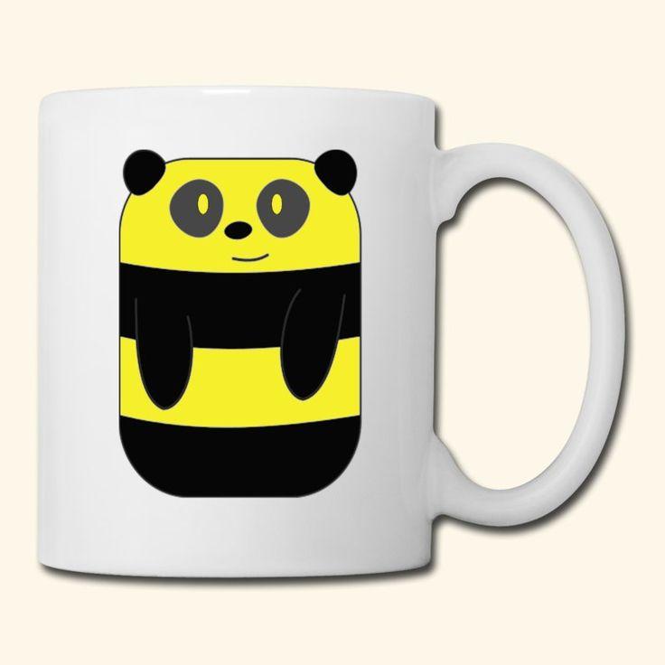 Good Cute Black And Yellow Panda Coffee Tea Mug Mug white