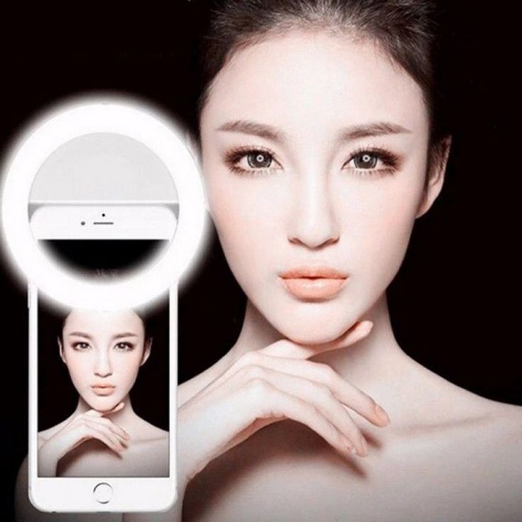 Mejora de la cámara flash led anillo de luz de la fotografía de teléfono selfie portátil fotografía para iphone smartphone rosa blanco negro