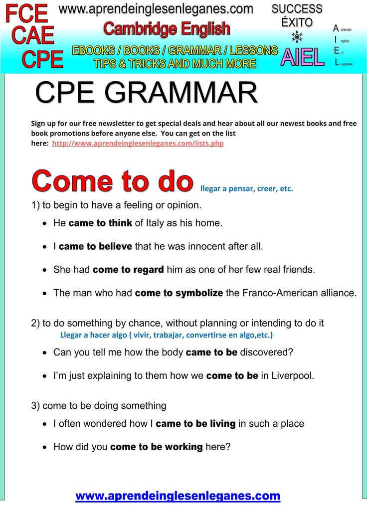 English idioms & Phrases Come to do something.. CAE CPE FCE Key word transformation gramática inglesa english grammar Key word transformation