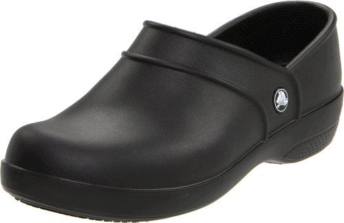 $44.91-$44.99 crocs Women's Neria Work Clog,Black,9 M US - Crocs Work Women's Neria Work Clogs - designed for sure-footed slip resistance and lightweight comfort that's great for those long days on your feet Crocs delivers an easy closed-back clog with just what hard-working feet need! Fully molded Croslite™ construction offers cushioning that's light on your feet, while Crocs Lock™ tread on the o ...
